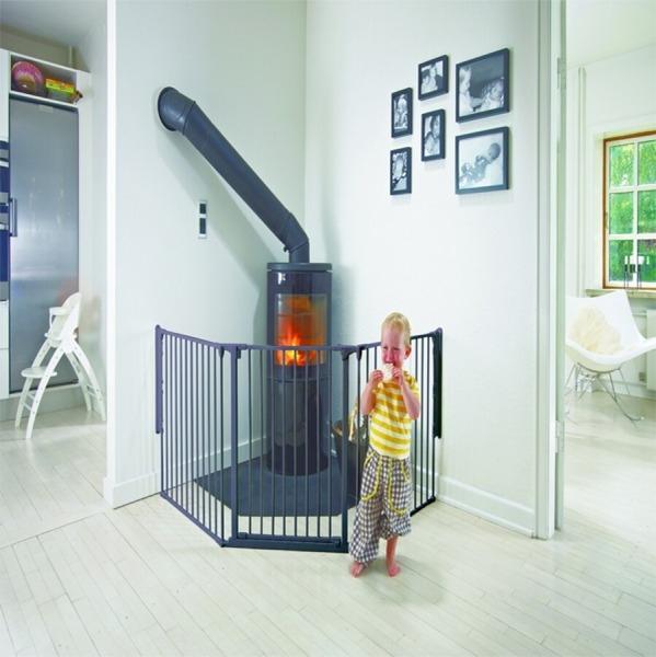Barrera para beb s modular flex l negra babydan segurbaby - Puertas seguridad ninos ...
