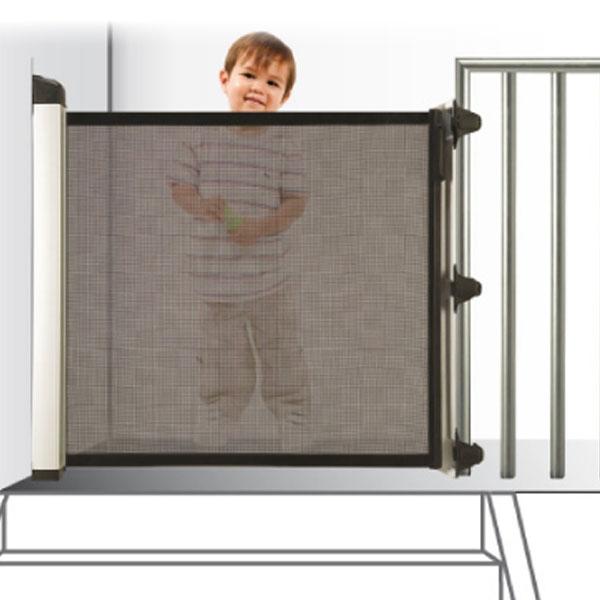 Barrera de seguridad para ni os kiddy guard avant - Puertas para escaleras ...