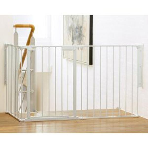 Barrera de seguridad modular flex l blanca babydan - Puertas seguridad ninos ...