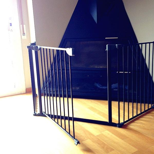 Barrera de seguridad modular flex xl negra segurbaby - Barrera para ninos ...