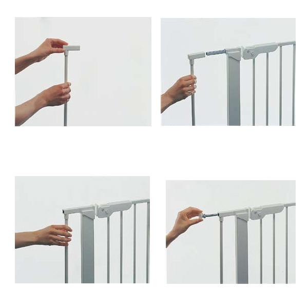 Extensi n barrera de seguridad plata segurbaby - Barrera escalera bebe ...