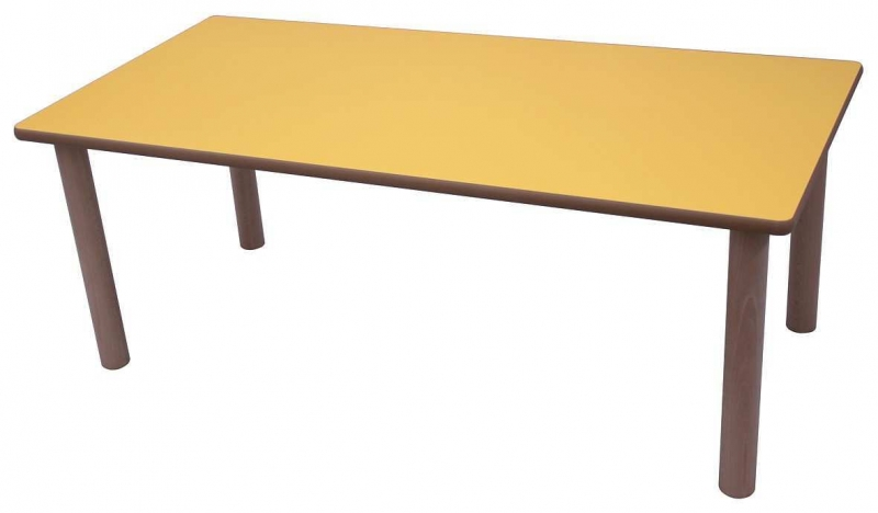 Mesa escolar rectangular de madera 120x60 cm mobeduc - Mesa madera infantil ...