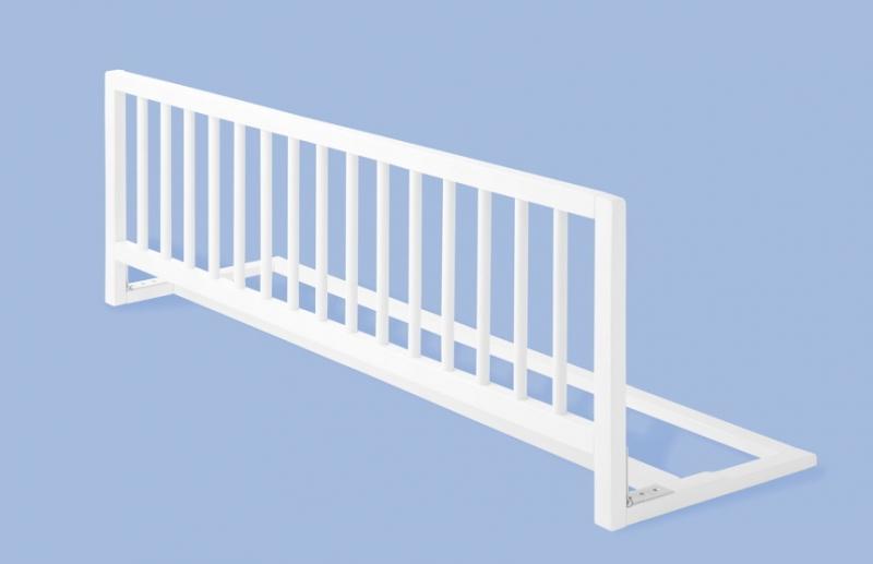 Barrera de cama extra larga madera blanca segurbaby - Barandillas seguridad ninos ...