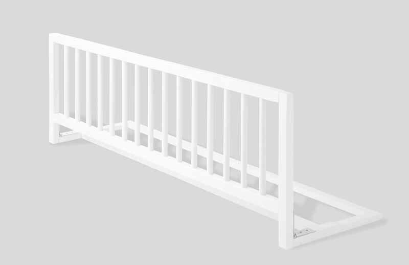 Barrera de cama extra larga madera blanca segurbaby - Barandilla escalera ninos ...