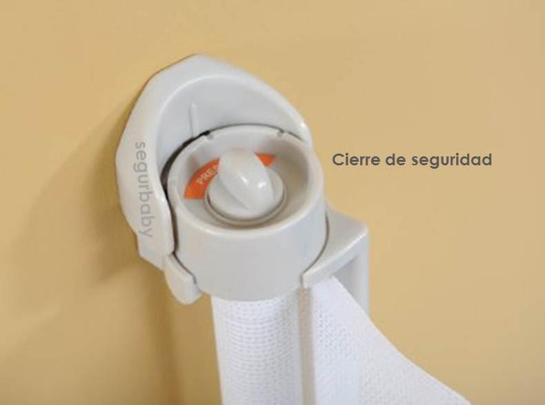 Barrera seguridad enrollable 140 cm blanca segurbaby - Vallas de seguridad ninos ...