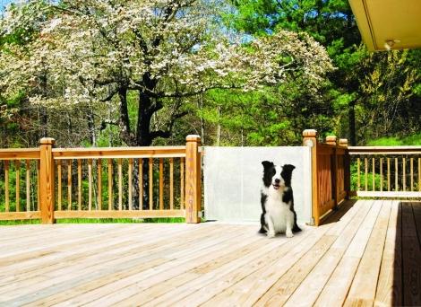 Barrera seguridad enrollable 140 cm blanca segurbaby for Piscinas para perros baratas