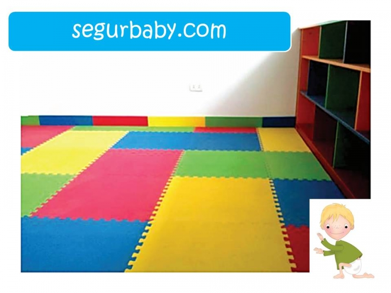 Suelo tatami infantil puzle para interiores segurbaby - Colchonetas suelo infantiles ...