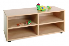 Mueble escolar superbajo 4 casillas Mobeduc