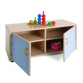 Mueble escolar superbajo armario 4 casillas Mobeduc