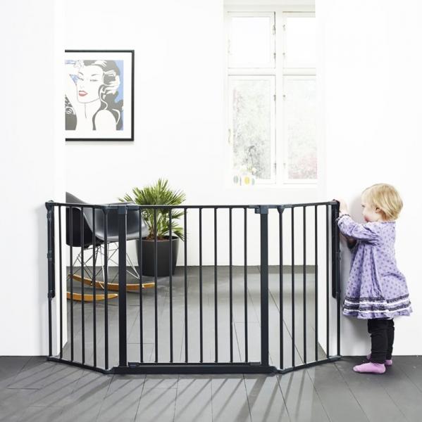 Barrera para beb s modular flex l negra babydan segurbaby - Barreras de seguridad ninos ...