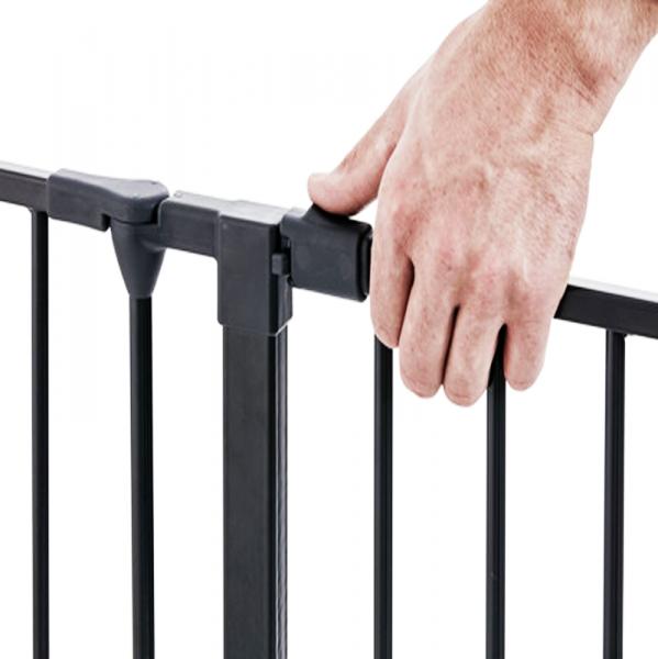 Barrera de seguridad modular flex xl negra segurbaby - Barrera seguridad escaleras ...