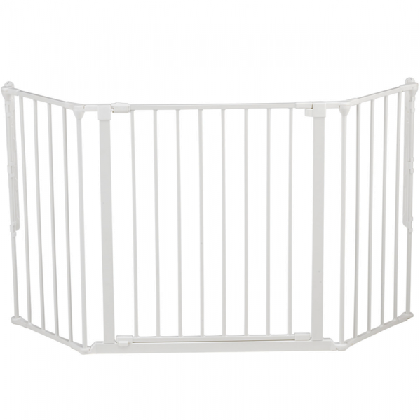 Puerta de seguridad para ni os flex m blanca segurbaby - Vallas para escaleras ...