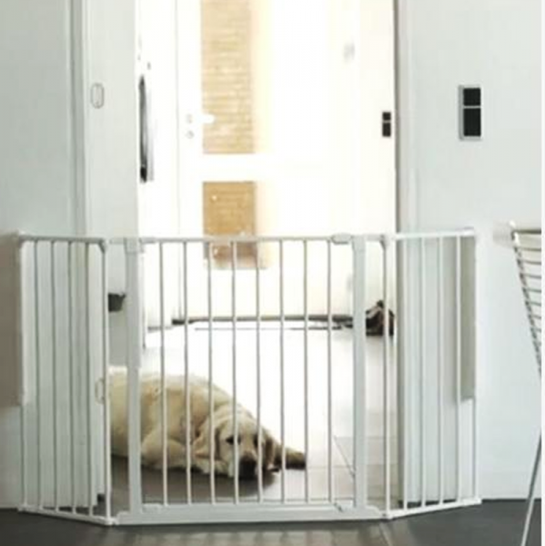 Puerta de seguridad para ni os flex m blanca segurbaby - Puertas escaleras bebes ...