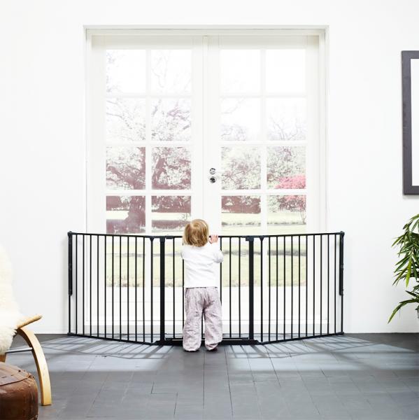 Barrera para beb s modular flex l negra babydan segurbaby - Valla seguridad escalera ...