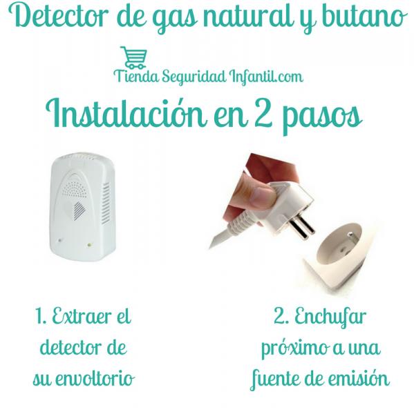 Detector de gas natural y butano segurbaby for Detector de gas natural