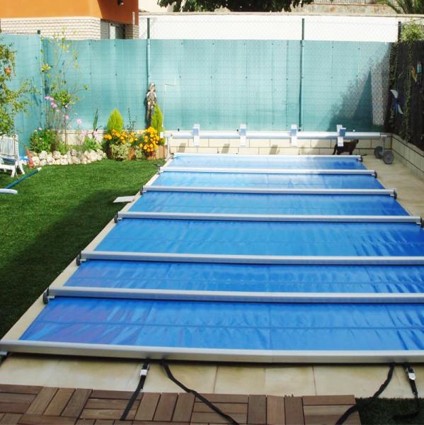 Cobertor piscina segurbaby for Estructura para piscina