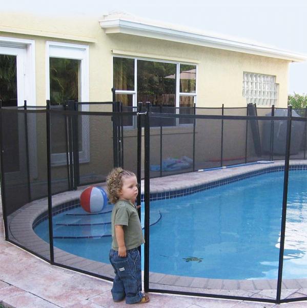 Valla de seguridad desmontable para piscina segurbaby - Cerramiento para piscinas ...