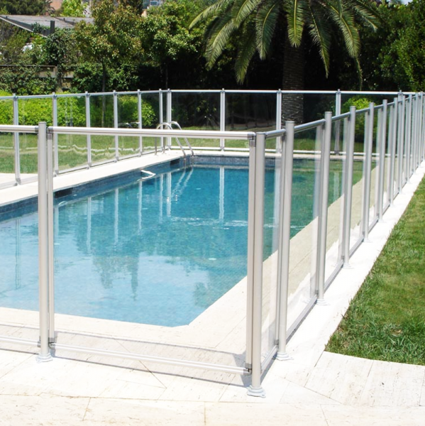 Valla piscina flash transparente segurbaby for Vallas para piscinas