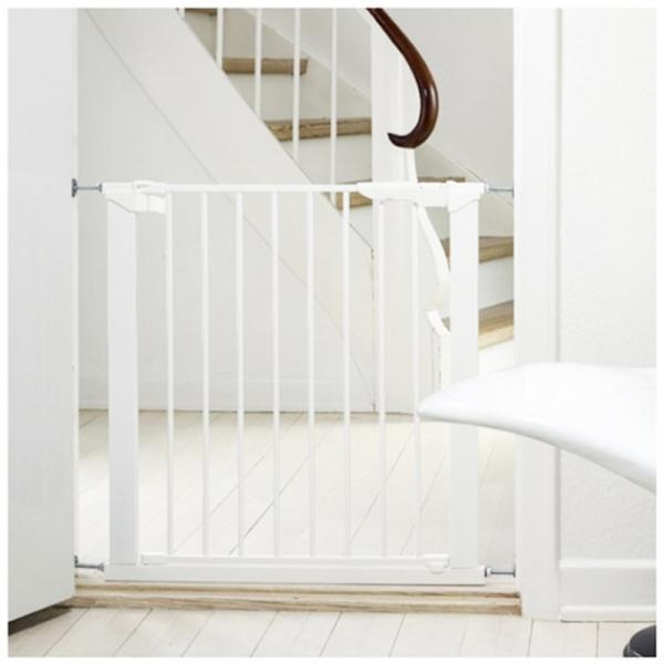 Barrera de seguridad premier babydan blanca segurbaby - Vallas para escaleras ...