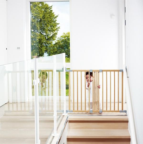 Barrera de seguridad infantil flexi haya segurbaby - Puertas para escaleras ...