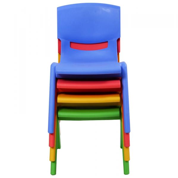 Silla escolar apilable talla 4 colores segurbaby for Silla escolar ergonomica