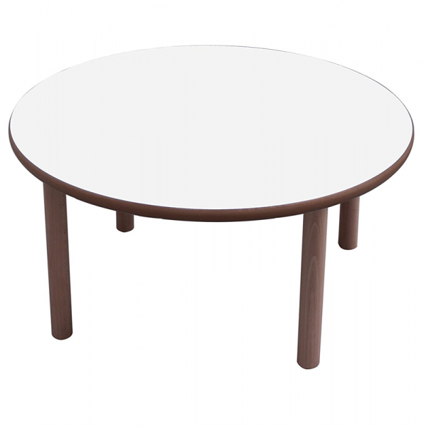 Mesa escolar redonda madera 120 cm mobeduc segurbaby for Mesa redonda blanca 120 cm