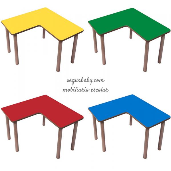 Mesa escolar de madera l mobeduc segurbaby - Mobiliario on line ...