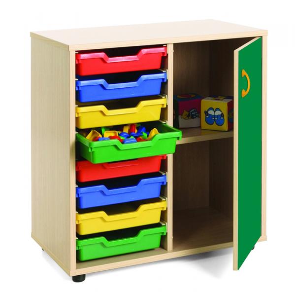 Mueble escolar bajo cubetero y armario mobeduc segurbaby - Mobiliario on line ...