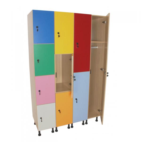 Mueble taquilla escolar 3 puertas ancho 40 cm segurbaby for Mueble 55 cm ancho