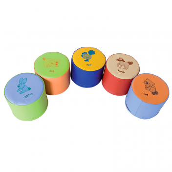 Pack 5 puffs infantiles