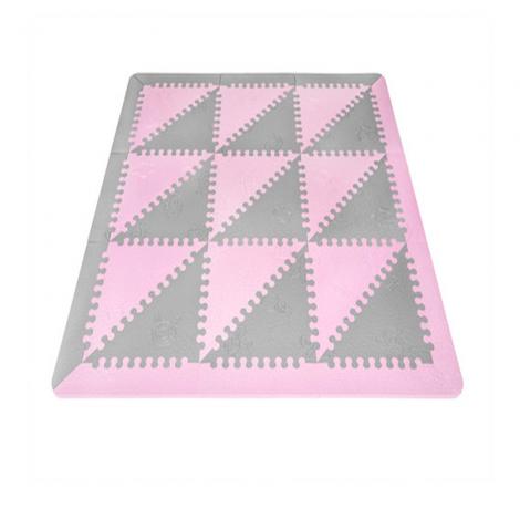 Alfombra de juegos rosa gris l babymats segurbaby - Alfombras puzzle infantiles ...