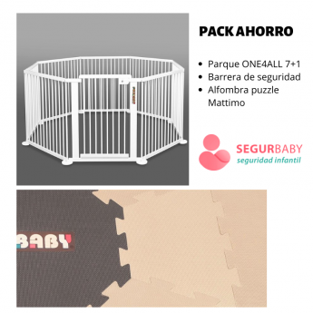 Pack ahorro: parque ONE4all 7+1 + alfombra puzzle Mattimo