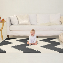 Alfombra Skip Hop Playspot Black/Cream