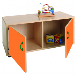 Mueble escolar superbajo armario 2 casillas Mobeduc